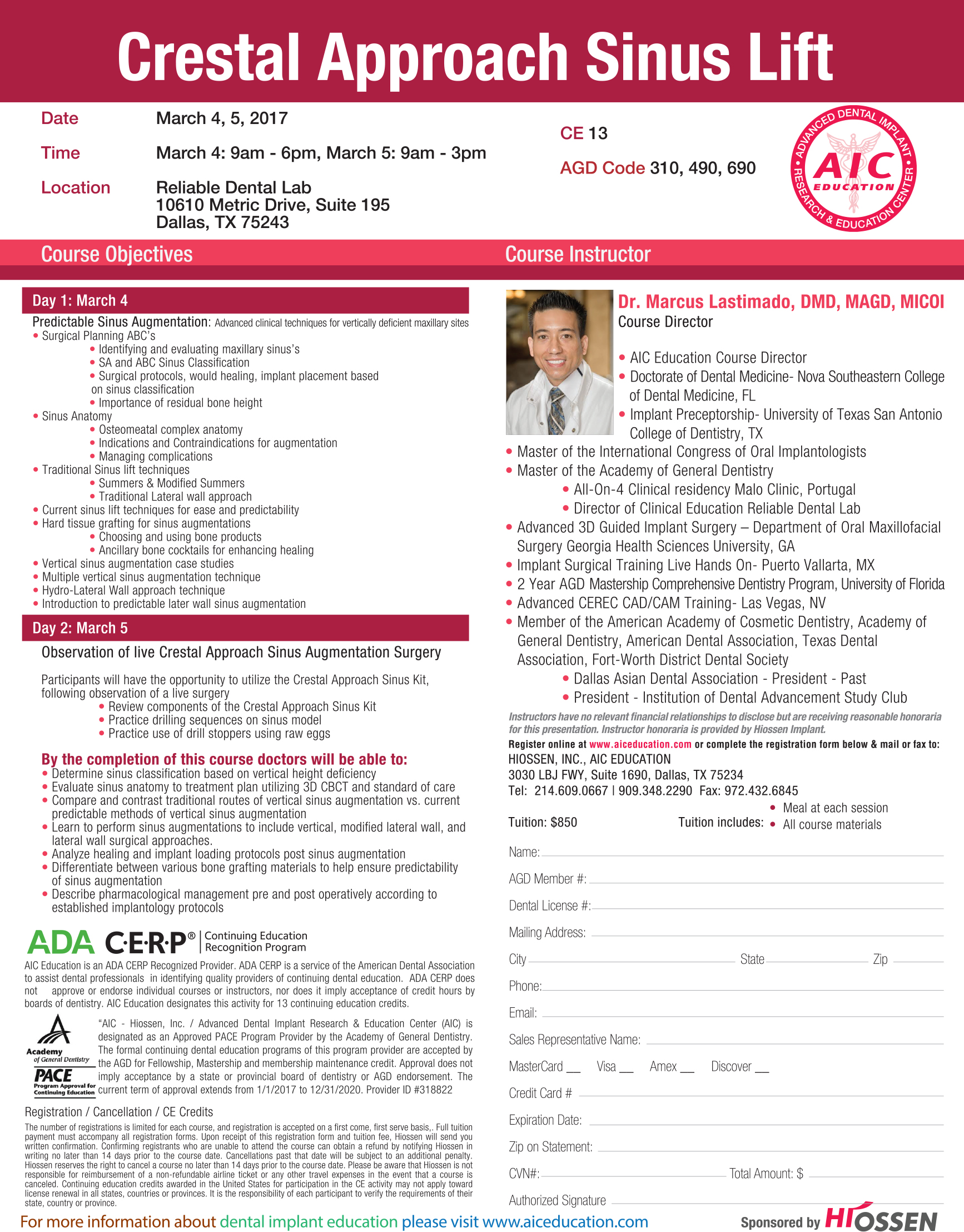 Institution of dental advancement dallas aic live surgical dallas aic live surgical sinus lift course 1betcityfo Images