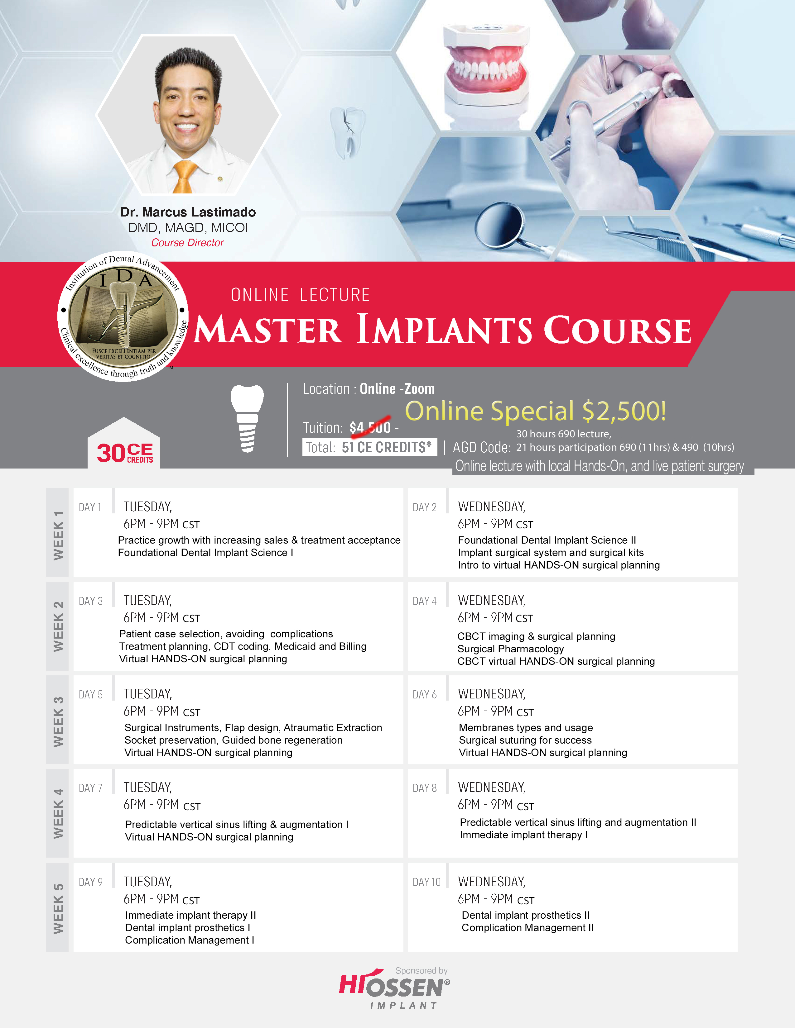 dental implant surgical training course