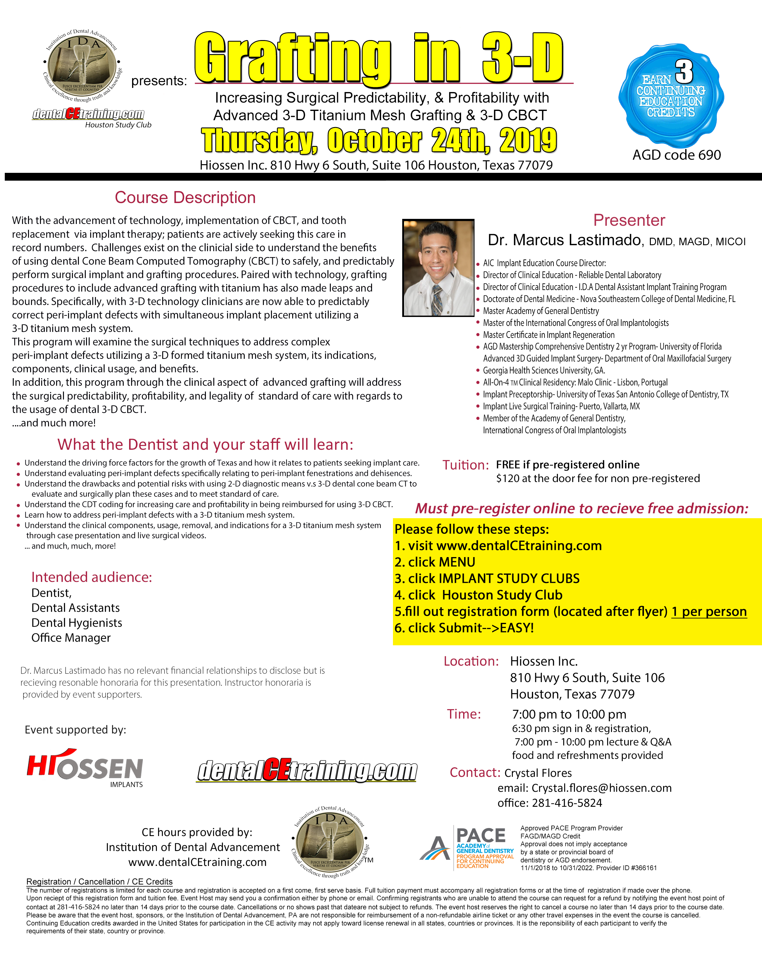 dental implant training course houston texas