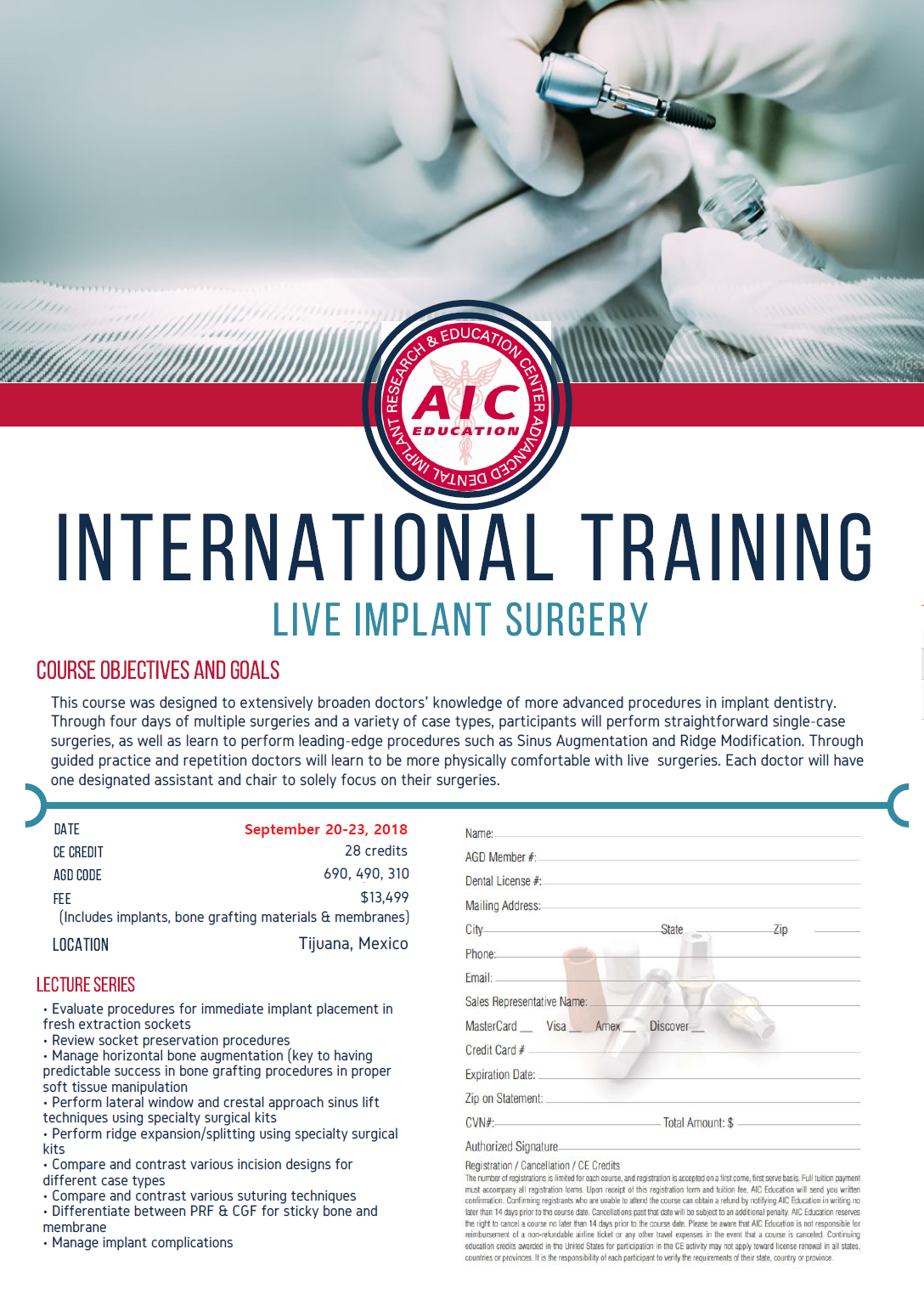 AIC Mexico international implant training course