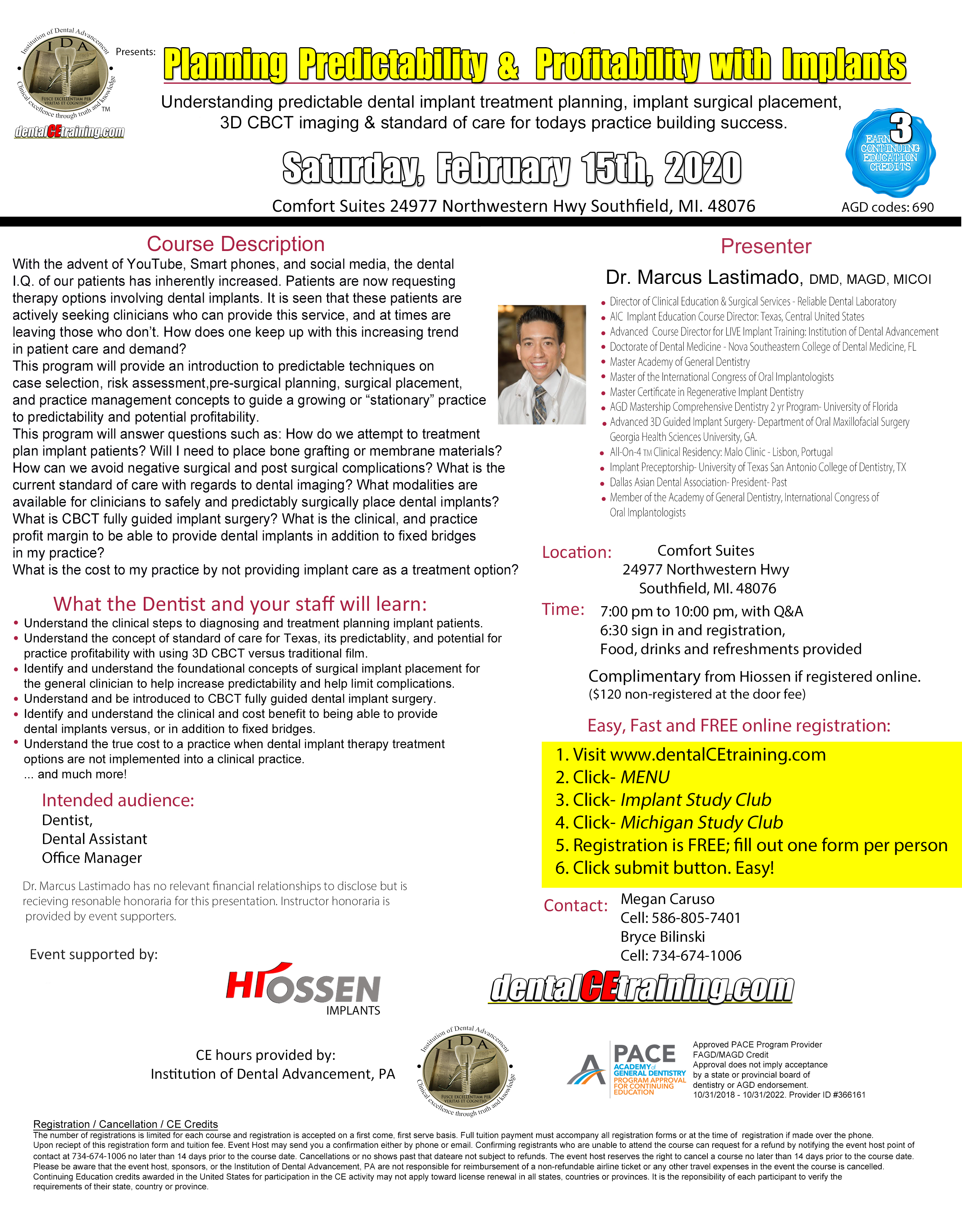 Michigan Detroit dental implant training course