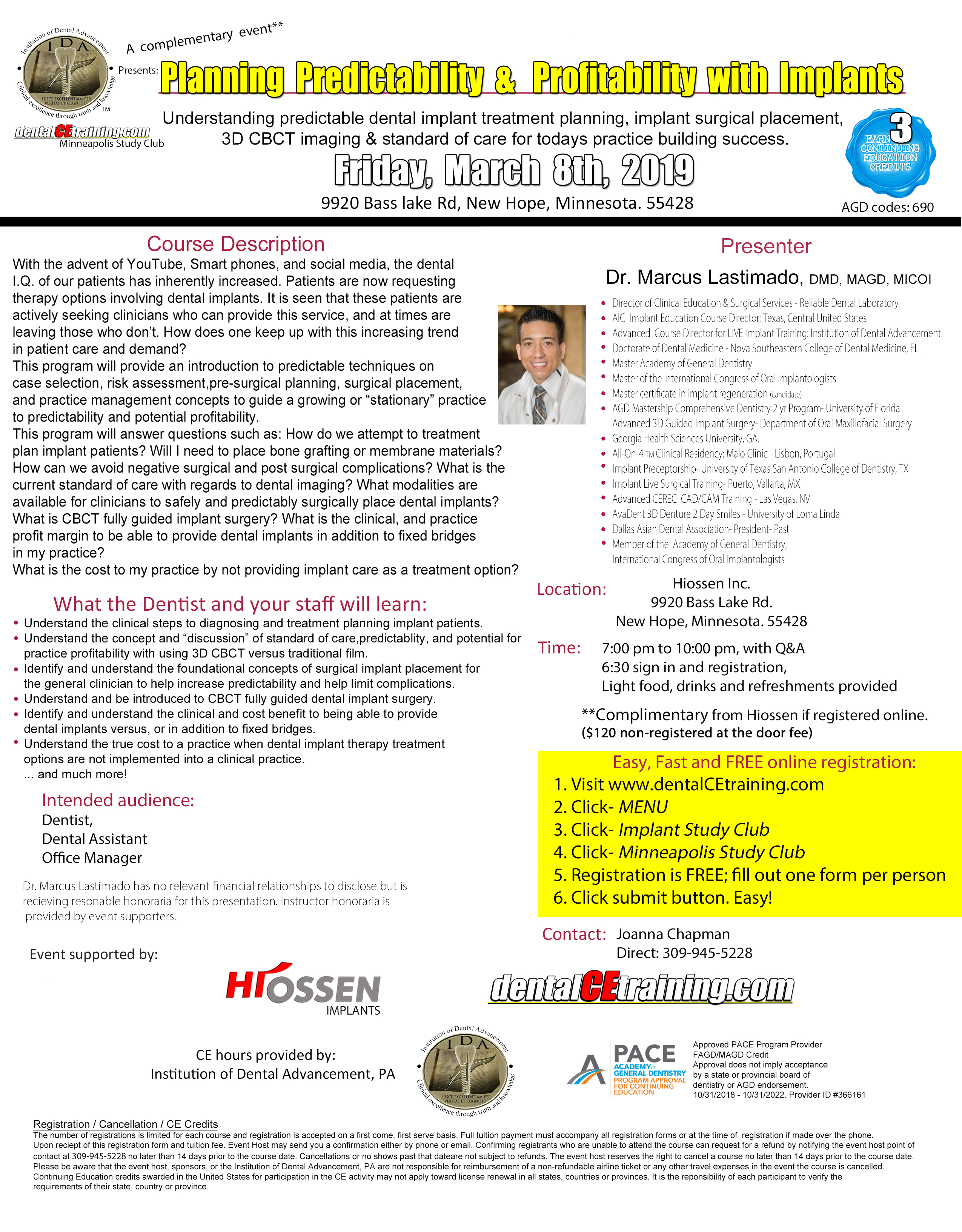 Minneapolis Minnesota dental implant course